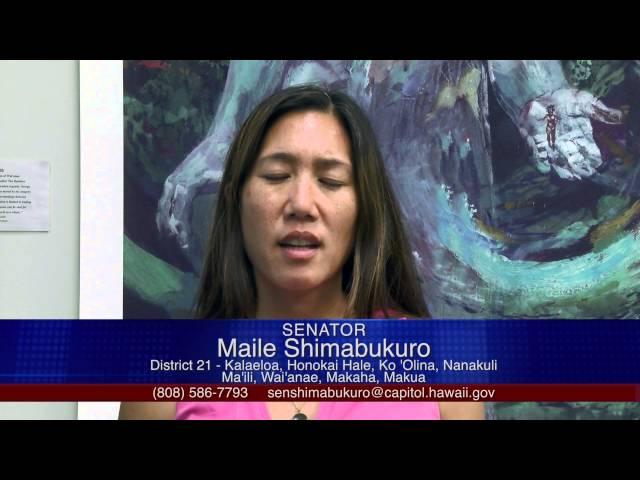 Capitol Commentary: Senator Maile Shimabukuro