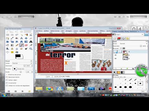 Usemos Software Libre | Extraer Imagenes o Texto de PDF con Gimp |