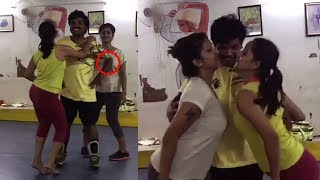 Sampoornesh Babu Dance Rehearsals For Kobbari Matta Movie Aa Ee Song | Filmylooks