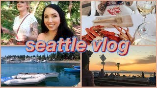WHAT TO DO IN SEATTLE! Food Adventures, Ferry Ride, Bainbridge Island | Vlog!