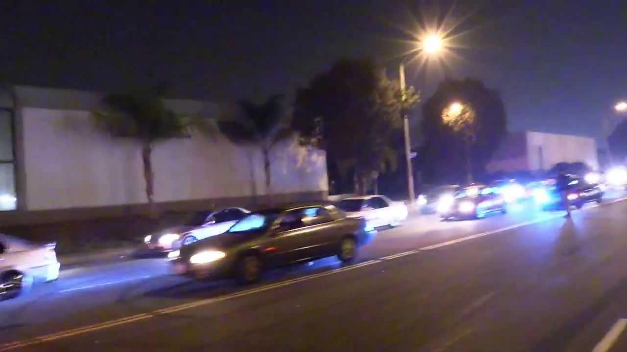 an effort against illegal street drag racing in los angeles