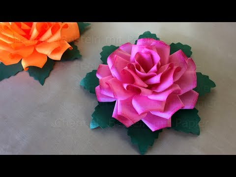 origami rose blumen basteln mit papier diy geschenkideen basteln ideen rosen falten. Black Bedroom Furniture Sets. Home Design Ideas