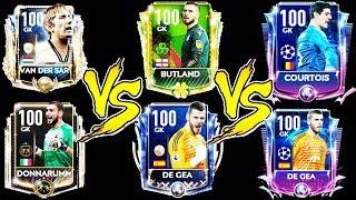 100 BUTLAND VS VAN DER SAR VS UCL COURTOIS VS TOTY DDG VS VIP DONNARUMA   FIFA MOBILE 19