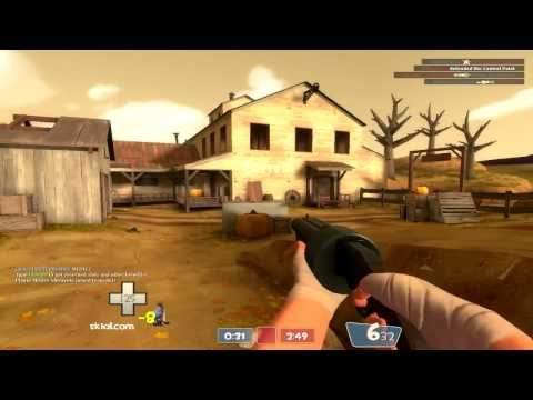 TF2 [HD] -  Scatter gun and Lugermorph Scout Gameplay on Harvest with Commentary