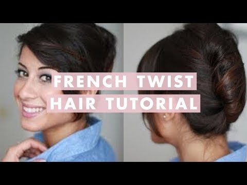 How to French Twist Hair French Twist Hair Tutorial