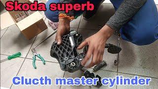 Skoda superb clutch master cylinder removing