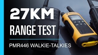 Walkie Talkie 27km Range Test - PMR446 0.5 Watt