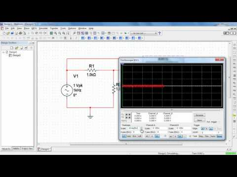 NI Multisim: Basic operation of the two-channel oscilloscope