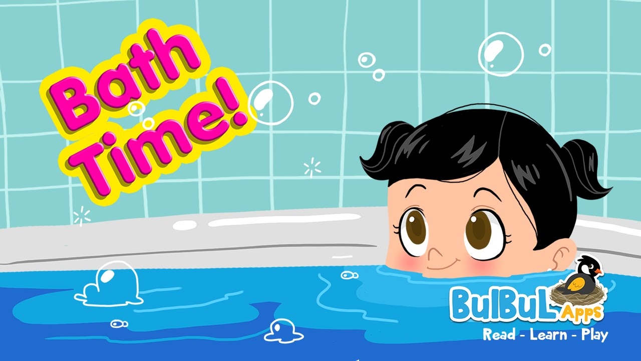 Baby Bath Time - Mother & Child Cute Bathing Animation ...