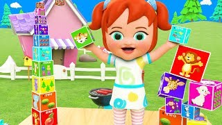 Little Baby Girl Fun Play Learning Numbers for Children with Number Box Toys 3D Kids Educational
