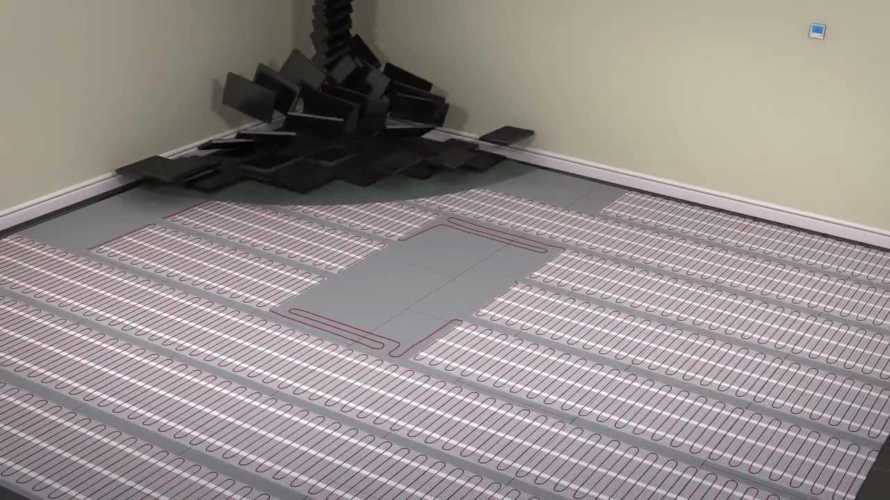 Heating mats for tile floors