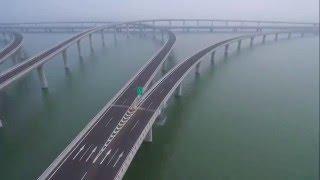 """青島膠州灣跨海大橋 Dji Phantom 3p,11'37""""飛6404.7m"""