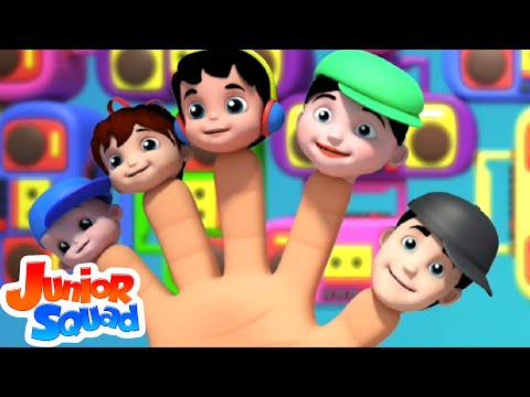 Junior Squad | Finger Family | Original Nursery Rhymes | Kids Songs