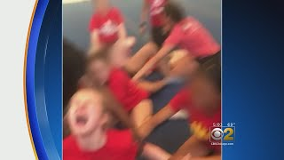 Cheerleader Forced To Do Splits