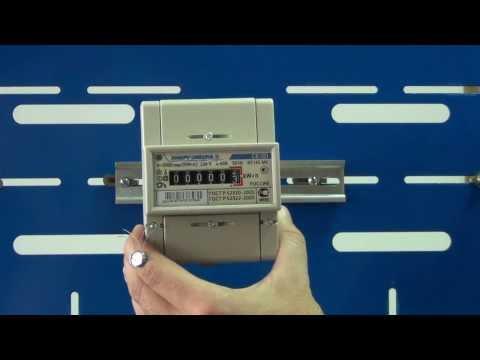 Установка счетчика электроэнергии видео
