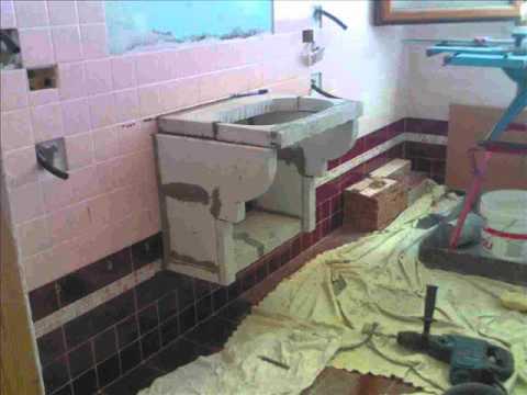 Ristrutturazione bagno con mobile muratura sospesa e - Costruire mobile bagno fai da te ...