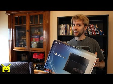 Sony PlayStation 4 (PS4) unboxing. setup & system config video