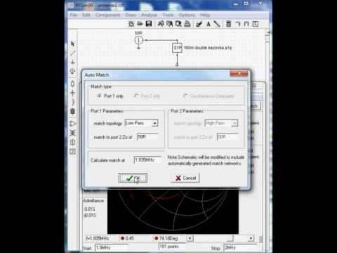 RFsim99 Touchstone S1P file simulation