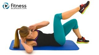 10 Minute Abs Workout -- At Home Abs And Obliques Exercises With No Equipment