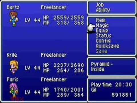 Final Fantasy 5 - Episode 026A - Pyramid of Moore.