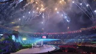 Download Lagu WOW ! Fancam Opening Ceremony Asian Games 2018 - Bright as the Sun! With fireworks party scene! Gratis STAFABAND