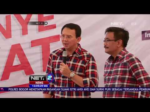 Ahok-Djarot dan Sejumlah Artis Hibur Warga di Rumah Lembang - NET 12