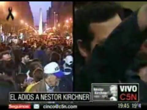 Velatorio de Nestor Kirchner (Momento Emotivo)  Ave María por Ernesto Bauer