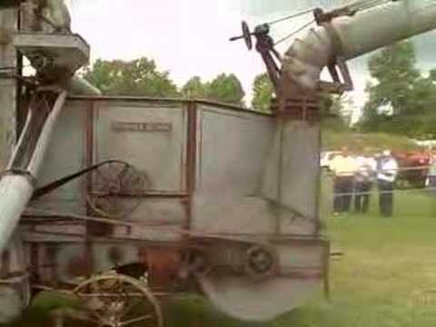 Steam Threshing of Wheat in NY