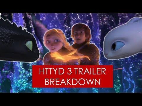 How to Train Your Dragon 3: Trailer Breakdown [ Light Fury l Hiccstrid l Hidden World ] | HFM