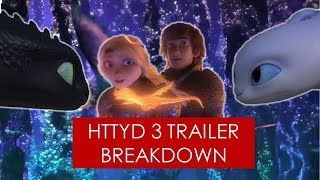 How To Train Your Dragon 3 Trailer Breakdown  Light Fury L Hiccstrid L Hidden World