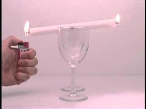 маятник из свечи