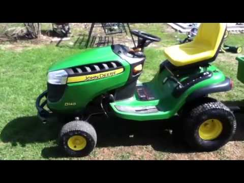 John Deere D140 walk around review