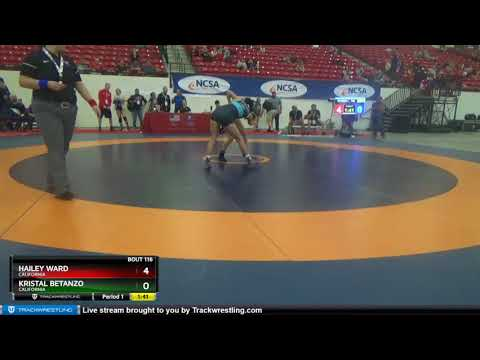 WOMEN (CADET-JR) 100 Hailey Ward California Vs Kristal Betanzo California
