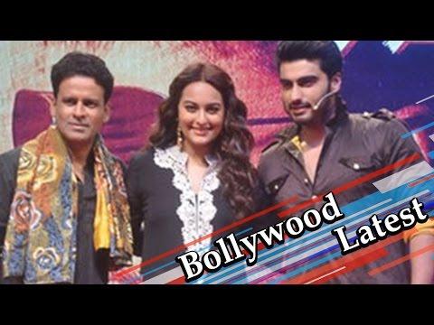 Arjun Kapoor Sonakshi Sinha Manoj Bajpayee at Tevar trailer launch