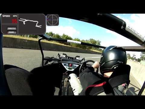 Full Charge Motorsport Electric race car in action at the khanacross 22 05 16 test 8