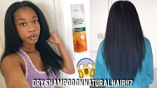 HOW I KEEP MY TYPE 4 NATURAL HAIR STRAIGHT FOR 3 WEEKS! DRY SHAMPOO ON NATURAL HAIR?!!