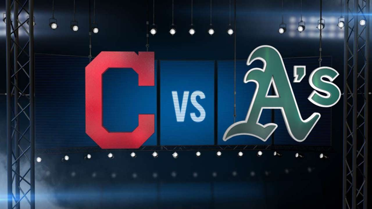 8/1/15: A's top Tribe as Brooks dazzles in team debut