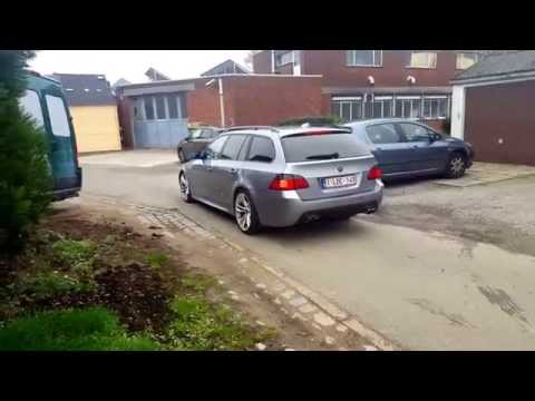 BMW E61 535D Bi-turbo insane exhaust sound!