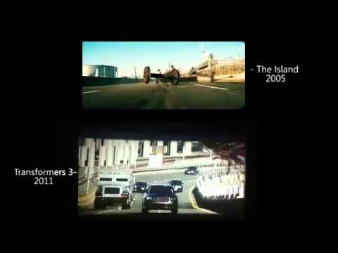 Same Scene In The Island (2005) & Transformers 3 (2011)