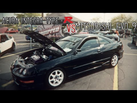 Acura Integra Boosted Type-R FWD VS. Mitsubishi EVO 9 AWD