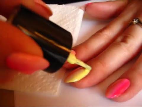 Manicure hybrydowy SEMILAC - Jak zrobić ombre - Basevehei