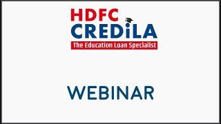 Eduloans Webinar - Credila on Education Loan
