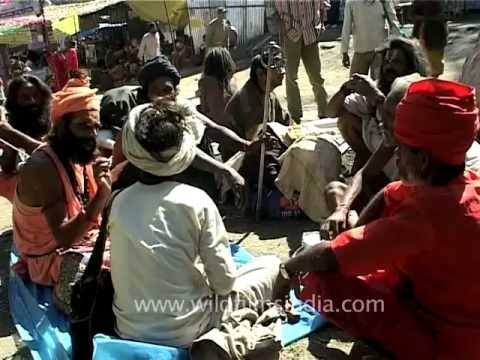 Round-table Of Babas And Sadhus En Route Amarnath video