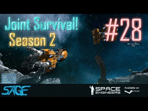 Space Engineers, Joint Survival, S2 #28 (Expensive Eggs, and Mining Drones)