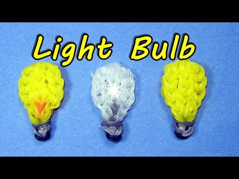 Rainbow Loom (Easy): LIGHT BULB: How to Design / Tutorial (DIY Mommy)