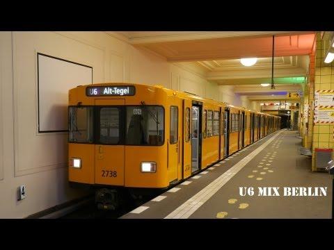 U-Bahn Berlin - Züge auf der U6 Mix [1080p]