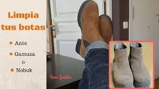 Limpia tus zapatos de ante, gamuza o nobuk