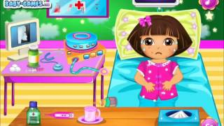 Dora Disease Doctor Care Gameplay-Dora Games-Doctor Care Games