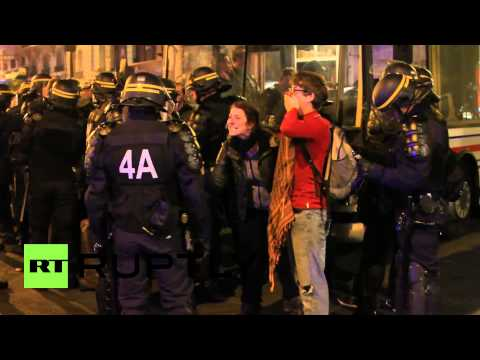 France: Watch riot police clash with anti-police brutality protesters in Paris