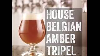 House Belgian Amber Tripel with Kurobuta Pork Burger